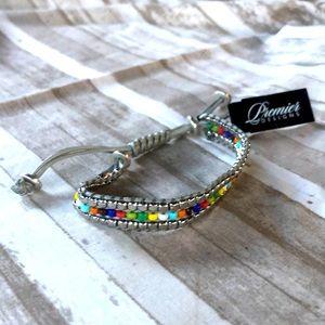 Drawstring multi color bracelet